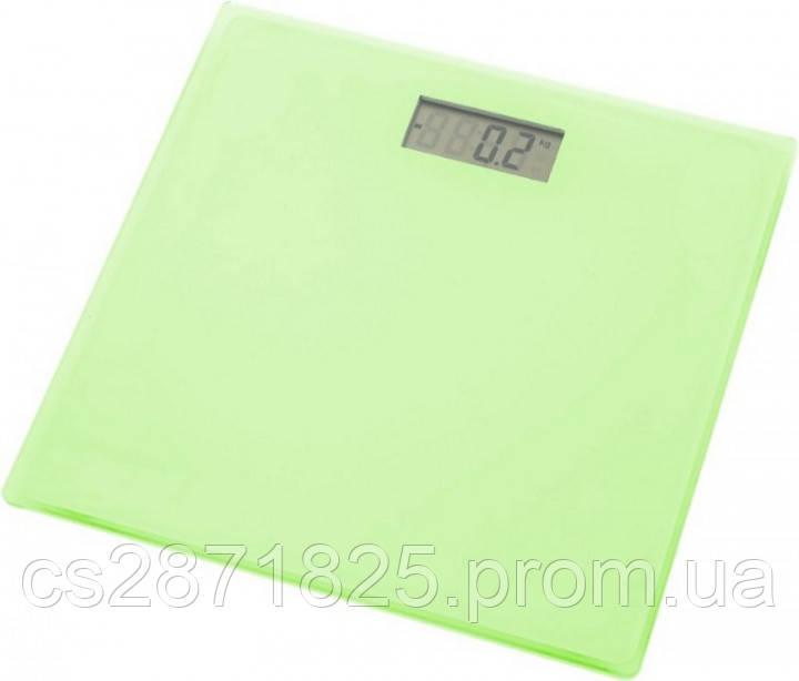 Ваги для ванної GRUNHELM BES-1SG (зелені) макс. вага 150кг, квадратні, з батареєю 1х3VCR2032