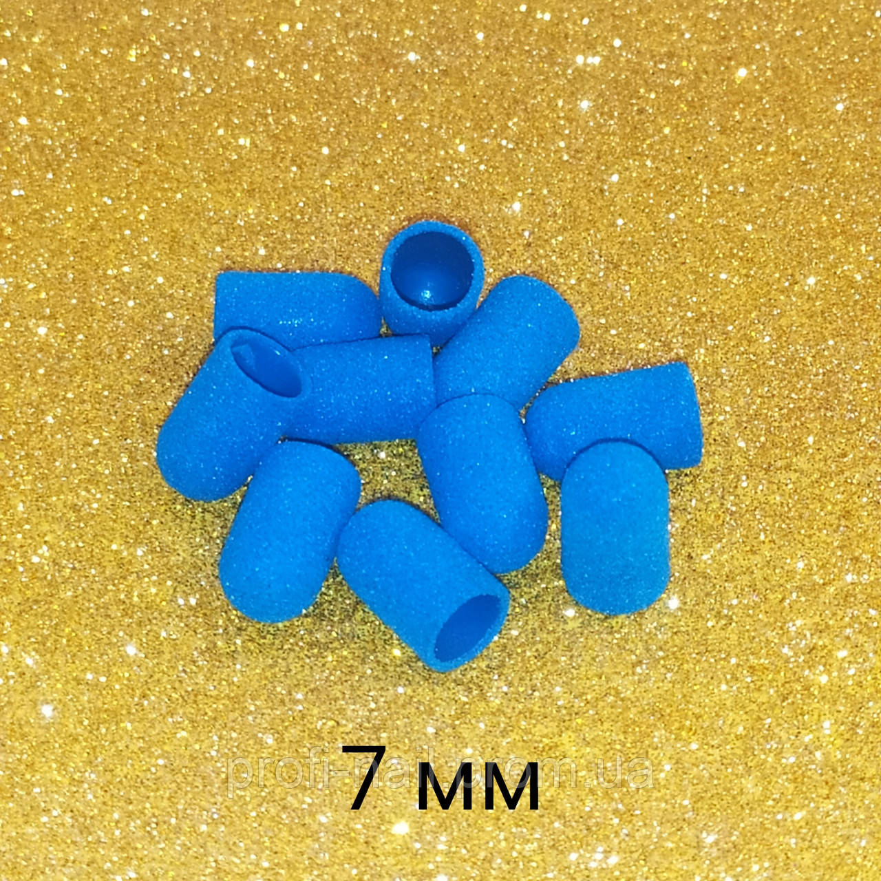 Колпачки голубые, диаметр 7мм 160грит 10шт. Panorama