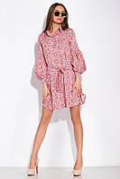 Платье с нежным цветочным принтом 103P492-1 (Пудровый принт), фото 1