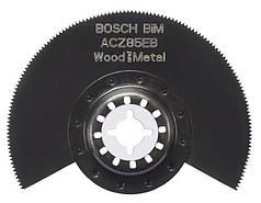Биметаллический сегментированный пильный диск Bosch ACZ 85 EB Wood and Metal