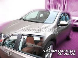 Дефлекторы окон (ветровики) NISSAN QASHQAI  2008r->2013 (HEKO)
