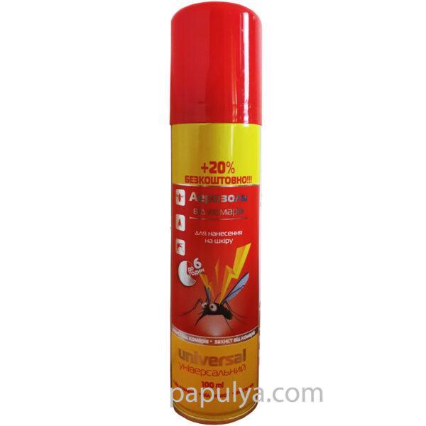 Аэрозоль от комаров ANTI mosquito +20% бесплатно ( защита до 6 часов )