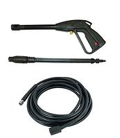 Пистолет автомойки защелка усиленный + шланг 10м д15