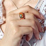 Серебряное кольцо с эмалью, фото 8
