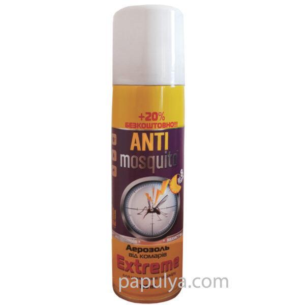 Аэрозоль Anti mosquito Extreme 100 мл+20% бесплатно (защита до 8 часов)