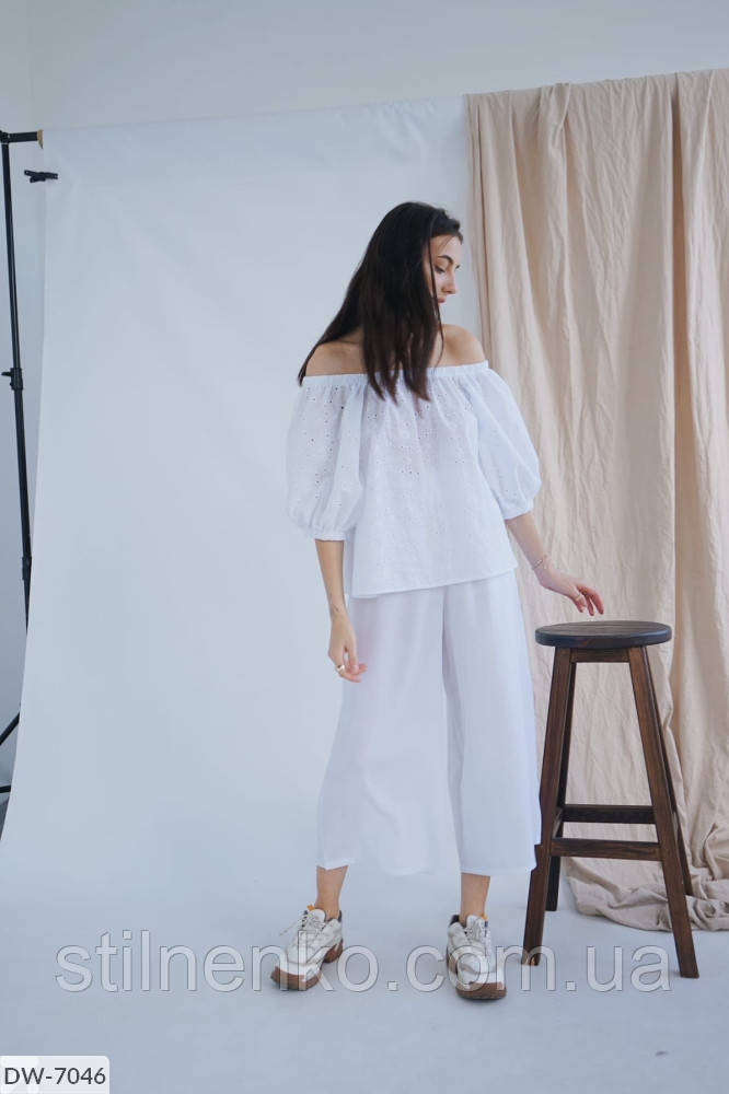 Костюм блуза+брюки с завышенной талией