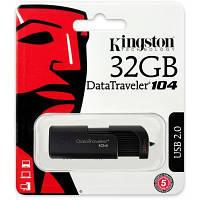 Модуль FD 32GB Kingston DataTraveler 104 Black USB 2.0 (DT104/32GB) 69.6 x 22.1 x 12.8 мм