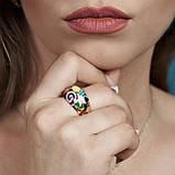 Серебряное кольцо с эмалью, фото 7