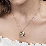 Серебряное кольцо с эмалью, фото 5