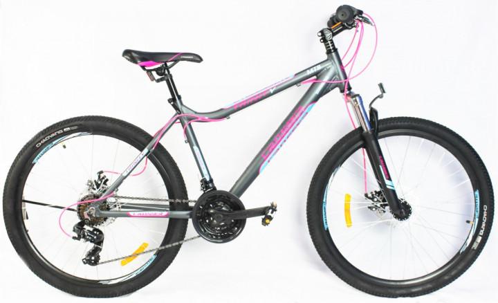 """Горный велосипед 26 дюймов Crosser Trinity рама 17"""" GREY"""
