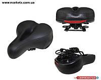 Широкое мягкое сиденье на велосипед на мягких пружинах седло сидение качественное супер мягкое