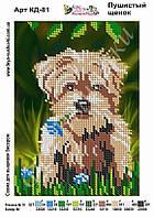 Схема для частичной зашивки бисером -Пушистый щенок