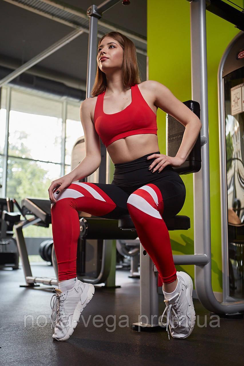 Спортивные Женские Лосины Nova Vega Mari Black&Red