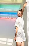 Платье-футболка женское домашнее. Ночная сорочка, туника рубашка для сна, размер M (белая), фото 5