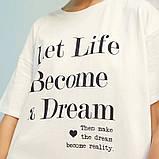 Платье-футболка женское домашнее. Ночная сорочка, туника рубашка для сна, размер M (белая), фото 8