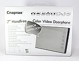 Цветной Видеодомофон Спатак JS 728, домофон зеркальный 7 дюймов, домофон с сенсорной панелью, Hands Free, фото 2