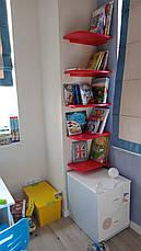Настенная кухонная полка угловая  из натурального дерева от производителя (цвет на выбор), фото 3