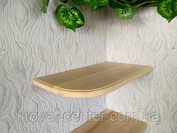 Настенная кухонная полка угловая  из натурального дерева от производителя (цвет на выбор), фото 2