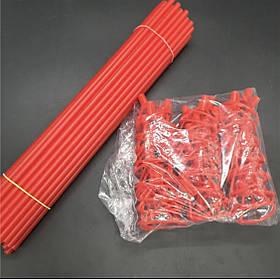 """Палочки для фольгированных шариков """"Красные"""" 40 см. (50 шт.)"""