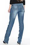 Женские джинсы с широким поясом OM 9618 синие, фото 2
