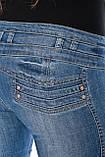 Женские джинсы с широким поясом OM 9618 синие, фото 8