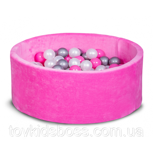 Сухой бассейн для дома, детский, розовый 80 см