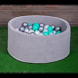 Сухий басейн для дому, дитячий, сірий 80 см, фото 3