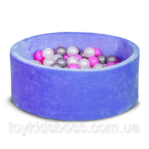 Сухий басейн для дому, дитячий, синій 80 см