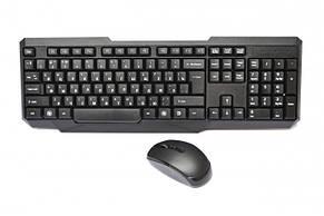 """Клавіатура безпровідна + мишка """"W1080"""" Black, фото 2"""