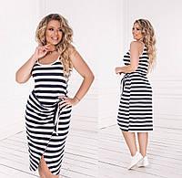 Женское летнее платье в полоску.Размеры:50-52,54-56.+Цвета, фото 1