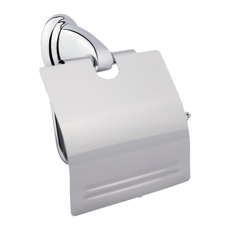 Держатель для туалетной бумаги с крышкой Lidz (CRM)