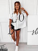 Стильная женская свободная рубашка С, М +большие размеры, фото 1