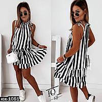 Женское модное платье в полоску, фото 1