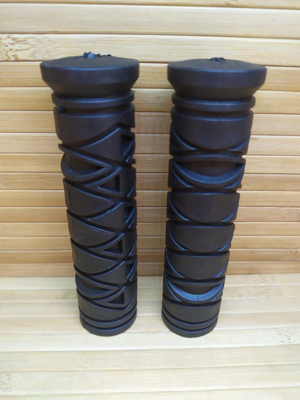Гріпси велосипедні гумові ручки чорні 125 мм