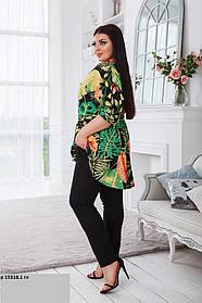 Женский костюм блузка и брюки ботал