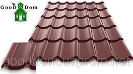 "Металлочерепица ""Монтеррей"" RAL: 8017 (коричневый) Германия"