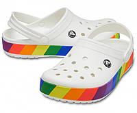 Кроксы летние Crocs Crocband белые, фото 1