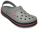 Летние кроксы Crocs Crocband серые 37 р., фото 2