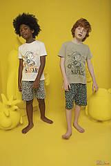 ОПТОМ Пижама шорты и футболка Funny Safari для мальчика 2-3 лет (2-3 года)  Donella 8697840566623
