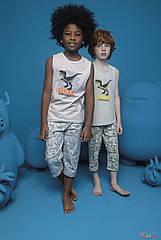 ОПТОМ Пижама бриджи и майка Danger Dinosaur для мальчика 6-7 лет (6-7 лет)  Donella 8697840566593