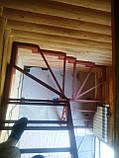 Каркас сходів під обшивку, поворотними, забіжними ступенями., фото 2