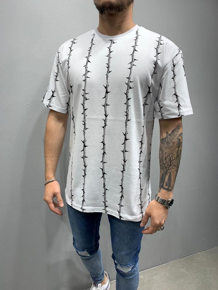 Чоловіча футболка оверсайз 2Y Premium white 6017