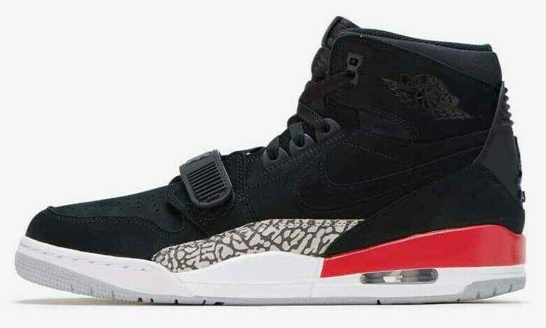 Кроссовки Nike Air Jordan Legacy 312 Black/Black/Fire Red. Оригинал (ар.AV3922 060)