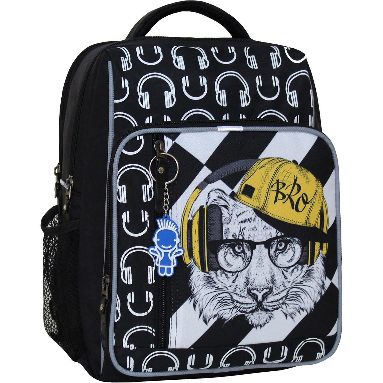 Школьный рюкзак 8л, черный 175к (0012870)