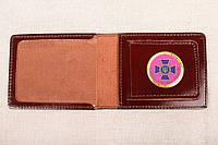 Кожаная обложка СБУ с карманом шоколадный 016-03, фото 1