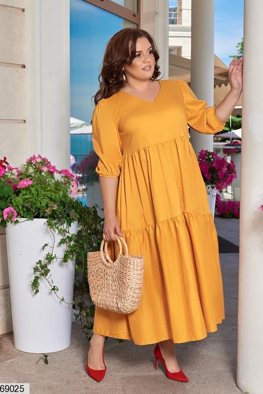 Платье женское летнее длинное размеры: 48-66