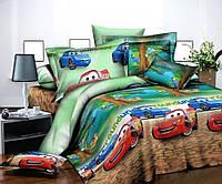 Комплект качественного детского постельного белья для мальчика семейка, маквин форсаж