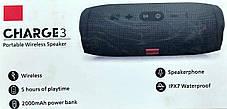 """Портативна Bluetooth колонка """"JBL CHARGE 3"""" Waterproof Red, фото 3"""