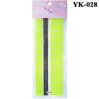 Наклейки для Ногтей Слайдеры для Дизайна Самоклеющие Цветные YK-028, Материалы для Дизайна Ногтей
