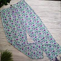 Штаны пижамные жен. George (Англия) 44/46 хлопок зеленый-принт